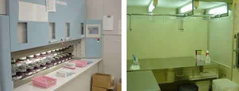 注射薬システム、オートアンプルディスペンサー、クリーンルーム、クリーンベンチ3台